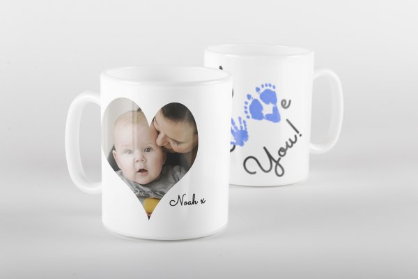 I Love You Photo Mug - Reverse