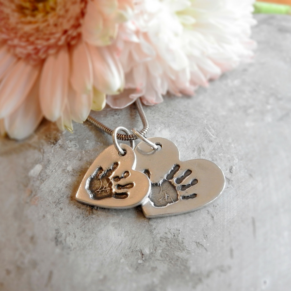 Double Cascading Heart charms