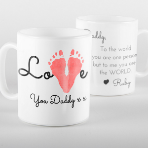 Love You Footprint Mug