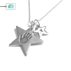 Shooting Star Handprint Necklace