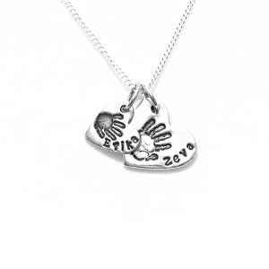 Double Cascading Handprint Charms