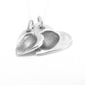 Double cascading Fingerprint Pendant