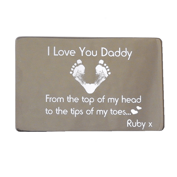 Engraved Keepsake Card