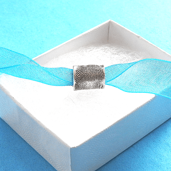 Fingerprint Barrel Bead