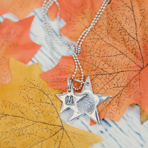 Shooting Star Fingerprint Necklace