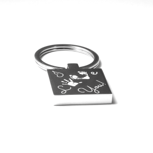 Square Engraved I Love You Keyring