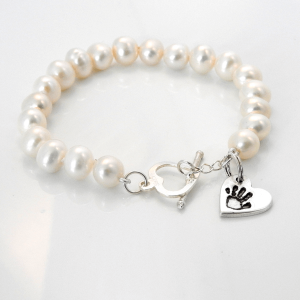 Freshwater Pearl Bracelet and Small Charm