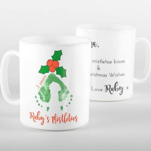 Mistletoe Kisses Footprint Mug