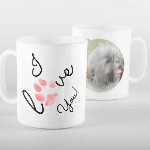 I Love You Paw Print Mug