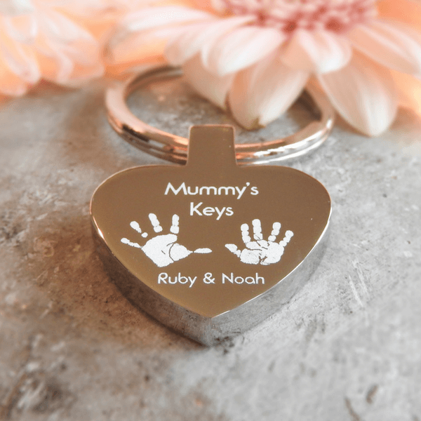 Mummy's Keys Heart Keyring