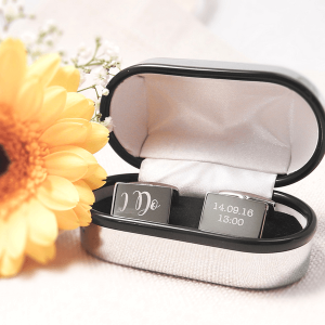 Engraved I Do wedding cufflinks