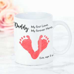 My forever hero footprint mug
