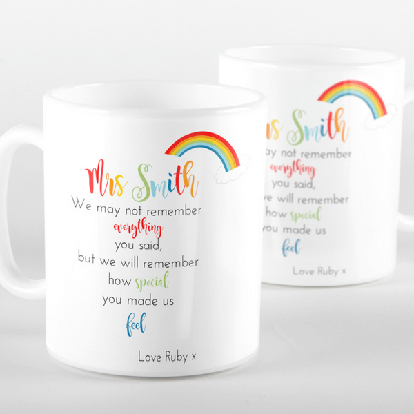 Rainbow Thank You Mug