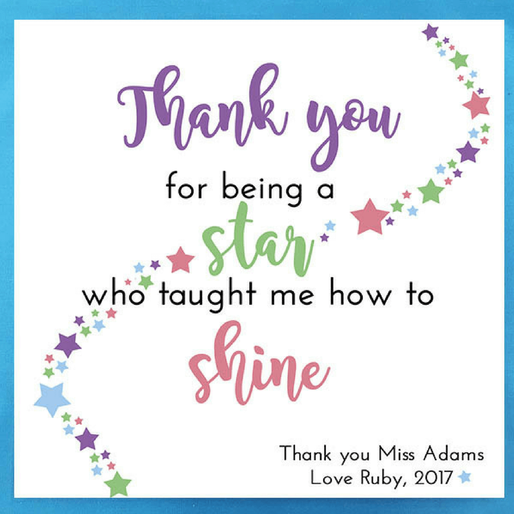 Thank you teacher tile ickle pickle prints What is a nice thank you gift