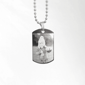 Engraved Photo Dog-Tag Necklace