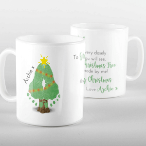 Christmas Tree Footprint Mug