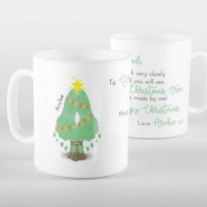 Footprint Christmas Tree Mug