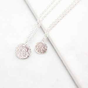 Engraved Fingerprint Necklace