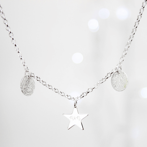 Written in the Stars Fingerprint Necklace