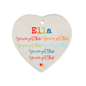 You've Got This Personalised Hanging Heart