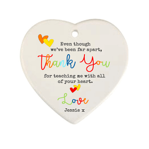 Far Apart Teacher Hanging Heart
