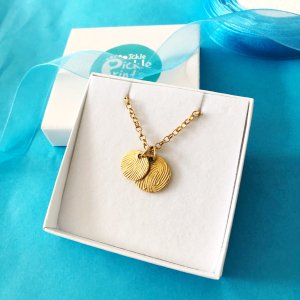 Gold Fingerprint Eclipse Necklace