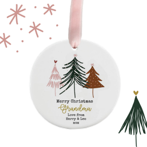 Dotty Trees Personalised Christmas Decoration