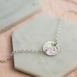 Lunar Necklace - Enlarged Fingerprint Disc