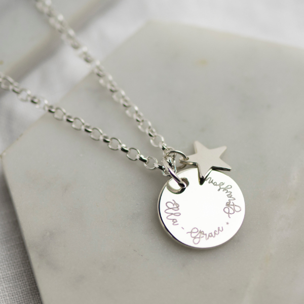 Personalised Name Disc Necklace