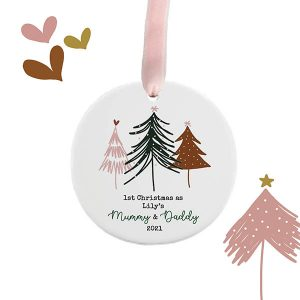 Dotty Trees First Christmas Personalised Decoration